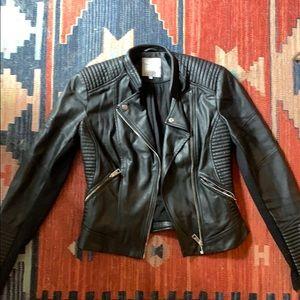 Zara trafaluc faux leather jacket m